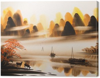 Canvas Print Chinese landscape watercolor painting