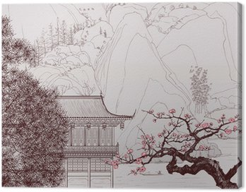 Canvas Print Chinese landscape