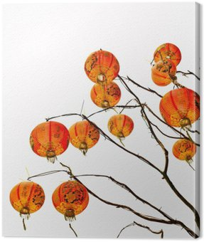 Canvas Print Chinese lantern on a white background