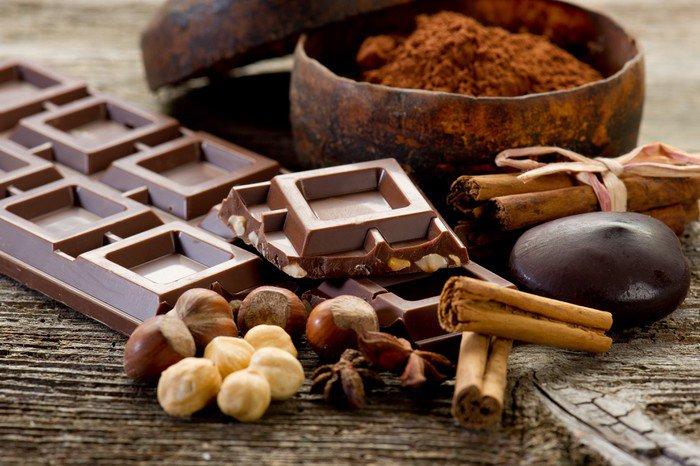 Canvas Print chocolate with ingredients-cioccolato e ingredienti - Themes