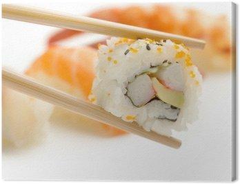 chopsticks with california maki