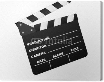 Canvas Print Cinema Clap board