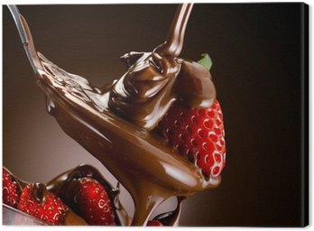 Canvas Print cioccolato e fragole
