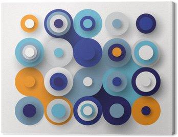 Canvas Print Circles flat background