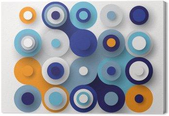 Circles flat background Canvas Print