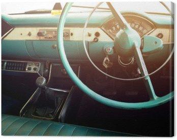 Canvas Print Classic car - vehicle interior vintage