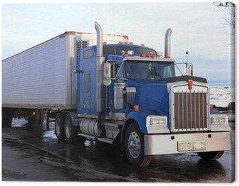 classical big american truck outdoors