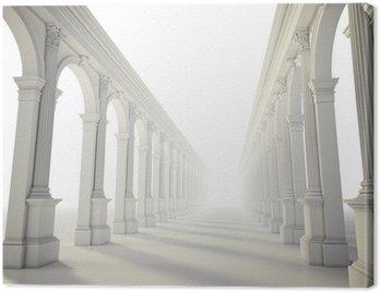 Classical colonnade with arcades and Corinthian columns Canvas Print
