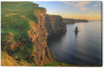 Canvas Print Cliffs of Moher at sunset - Ireland