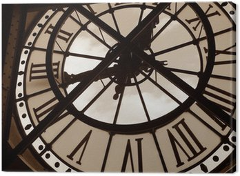 clock at the orsay museum. paris, france