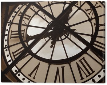 Canvas Print clock at the orsay museum. paris, france