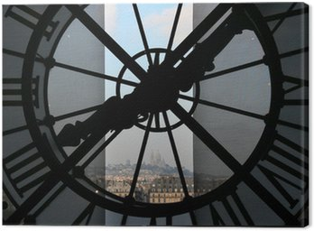 Canvas Print clock at the orsay museum