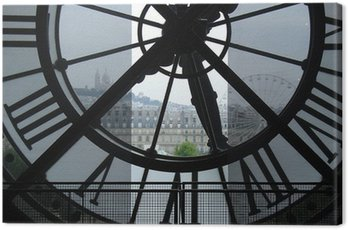 Canvas Print Clock in Museum d'Orsay