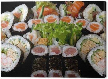 close-up of japanese sushi Canvas Print