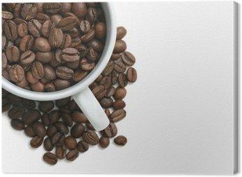 Canvas Print coffee beans cup