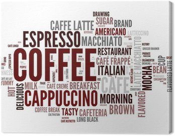 Canvas Print Coffee concept in word tag cloud on white background
