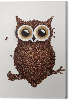 Coffee owl. Canvas Print