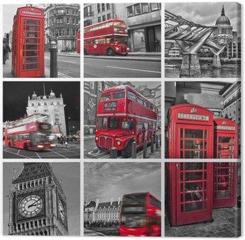 Canvas Print Collage monochrome Londres (UK)