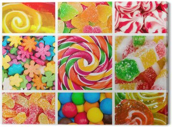 Canvas Print Collage of candy and sweets