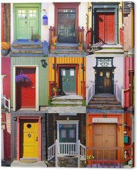 Collage of doors in Røros. Norway