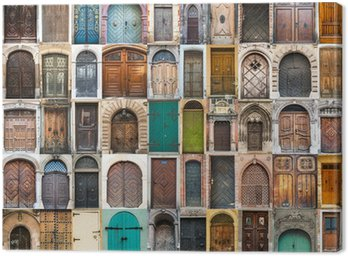 Canvas Print collage photos of doors