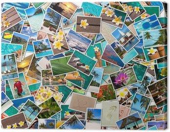 Canvas Print Collage photos vacances plage