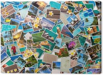 Collage photos vacances plage