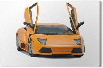 Canvas Print Collectible toy model Lamborghini front view