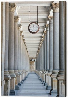 Colonnade in Karlovy Vary Canvas Print