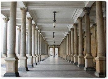 Colonnade in the famous spa resort Karlovy Vary aka Karlsbad
