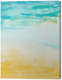 color strokes watercolor painting art Canvas Print