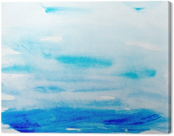 Canvas Print color strokes watercolor painting art