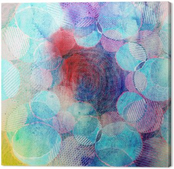 Canvas Print colored circles art illustration