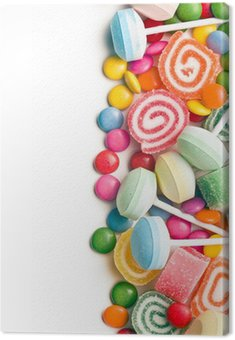 Canvas Print colorful candy