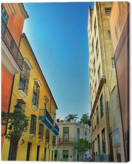 colorful facades of Havana city