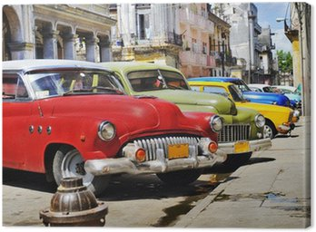 Canvas Print Colorful Havana cars