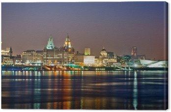 Colourful Liverpool Skyline Canvas Print
