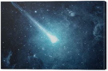 Canvas Print Comet in the starry sky. Elements of this image furnished by NASA.