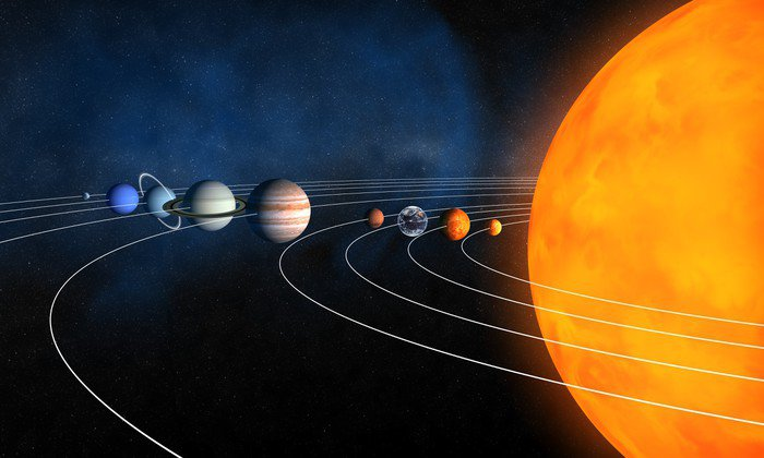 Canvas Print Complete solar system - Outer Space