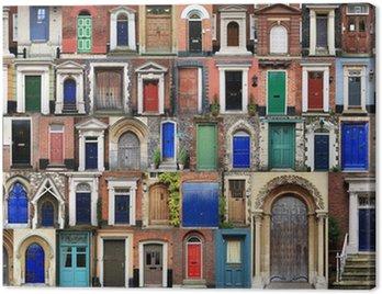 Canvas Print COMPOSITE OF FRONT DOORS