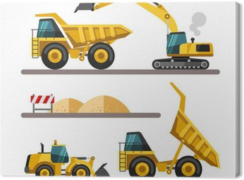 Canvas Print Construction equipment and machinery.