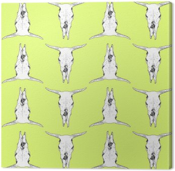 Canvas Print Cow skull pattern