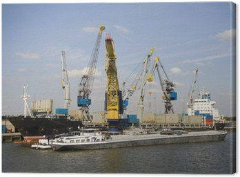 Canvas Print Cranes and carriers 11