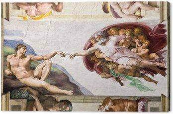 Creation of Adam by Michelangelo, Sistine Chapel, Rome