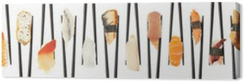 Criss-Crossed Sushi Canvas Print