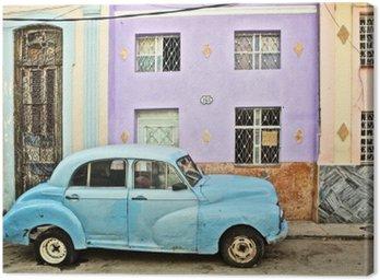 Canvas Print Cuba, La Habana, Broken Down Vintage Car