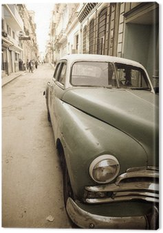 Canvas Print Cuban antique car