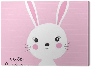 Canvas Print cute bunny vector illustration
