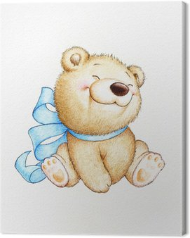 Canvas Print Cute Teddy bear