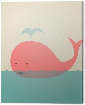 Canvas Print Cute Whale